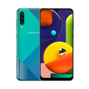 Samsung Galaxy A50s 128gb Crush Green front back view