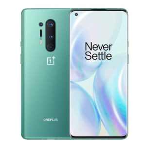 One Plus 8 Pro 128GB 8GB RAM Glacial Green fornt back
