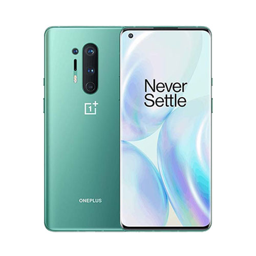OnePlus 8 Pro Glacial Green front back view
