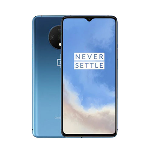 oneplus 7t Glacier Blue front back view
